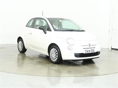 FIAT 500 1.2 Pop 3dr [Start Stop] Petrol - WHITE - SA14EBL - 3 Door Hatchback