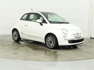 FIAT 500 1.2 Lounge 3dr [Start Stop] Petrol - WHITE - SP65WKB - 3 Door Hatchback