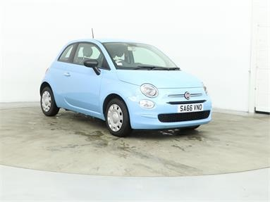 FIAT 500 1.2 Pop 3dr Petrol - BLUE - SA66VNO - 3 Door Hatchback