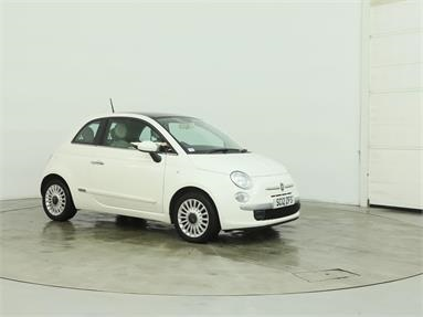 FIAT 500 1.2 Lounge 3dr Petrol - WHITE - SC12ZFS - 3 Door Hatchback