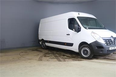 RENAULT MASTER LWB DIESEL FWD LM35dCi 125 Business Medium Roof Van Med Roof Diesel - WHITE - HK15BWN - 5 Door Panel Van