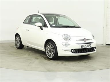 FIAT 500 1.2 Lounge 3dr Petrol - WHITE - SG65OPD - 3 Door Hatchback