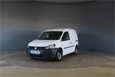 VOLKSWAGEN CADDY C20 DIESEL 1.6 TDI 75PS Startline Van Diesel - WHITE - RV14YWH - 5 Door Panel Van