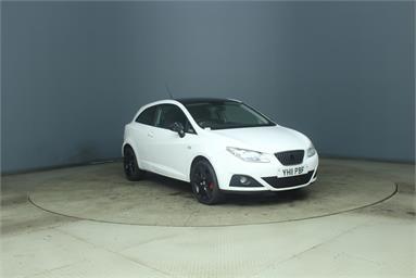 SEAT IBIZA 1.4 Sport 3dr Petrol - WHITE - YH11PBF - 3 Door Hatchback