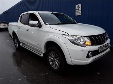MITSUBISHI L200 DIESEL Double Cab DI-D 178 Warrior 4WD Diesel - WHITE - DV67MHY - 4 Door Pick Up Body