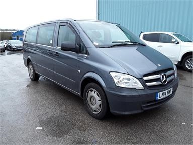 MERCEDES-BENZ VITO TRAVELINER EXTRA LONG DIESEL 113CDI BlueEFFICIENCY 8-Seater Diesel - GREY - LN14NNF - Bus (Mini Less 18 seats)