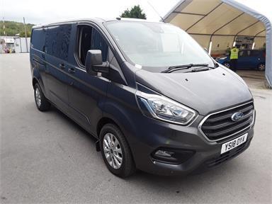FORD TRANSIT CUSTOM 320 L2 DIESEL FWD 2.0 EcoBlue 130ps Low Roof D/Cab Limited Van Diesel - GREY - YS18OYA - 6 Door Panel Van
