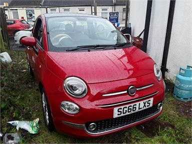 FIAT 500 HATCHBACK 1.2 Lounge 3dr Petrol - RED - SG66LXS - 3 Door Hatchback